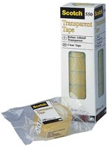 Scotch transparante tape 550 formaat 12 mm x 33 m