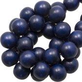 Houten Kralen Intense Look (8 mm) Navy Blue (208 stuks)