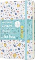 Moleskine agenda 2018/2019 - 18 maanden - Wekelijks - Petit prince wit - Pocket - Hard cover