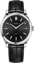Maen MN1531.3.1.1 horloge heren - zwart - edelstaal