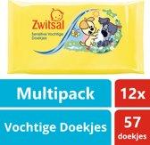 Zwitsal Woezel & Pip Vochtige Doekjes - 12 x 57 stuks