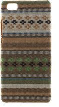 Javu - Huawei Ascend P8 Lite Hoesje - Back Case Hard Canvas Tribal Groen