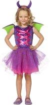 Draak Kostuum | Dartel Draakje | Meisje | Maat 164 | Halloween | Verkleedkleding