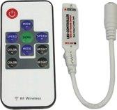 Mini RF controller met afstandsbediening voor RGB LED strips (DC plug)