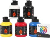 Pigment Art School, primaire kleuren, 5x500ml