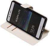 Wit Huawei P9 Lite TPU wallet case booktype hoesje HM Book