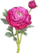 Kunstbloemen Ranonkel roze van 35 cm