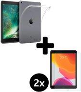 iPad 2018 Hoesje Siliconen Hoes Case Transparant Met 2x Screenprotector