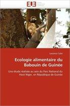 Ecologie Alimentaire Du Babouin de Guin�e