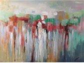 Schilderij abstract kleurrijk met hoogglans 120x90