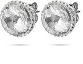 Twice As Nice Oorbellen in zilver, ronde kristal 12 mm, kleine kristallen zilverkleur