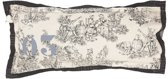 Stapelgoed Bloom - Sierkussen - 80x40 cm - Grijs
