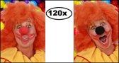 120x Schuimneus rood en micky zwart