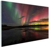Noorderlicht in IJsland Glas 60x40 cm - Foto print op Glas (Plexiglas wanddecoratie)