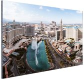 Bellagio fontein Las Vegas Aluminium 90x60 cm - Foto print op Aluminium (metaal wanddecoratie)