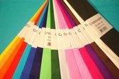 Crêpepapier 50x250cm 100 vouw 10 kleuren