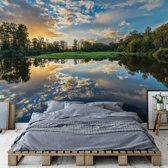 Fotobehang Tranquil Lake | V8 - 368cm x 254cm | 130gr/m2 Vlies