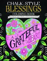 Chalk Style Blessings Coloring Book