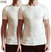 2-pack DICE heren T-shirt Ronde hals wit in maat L