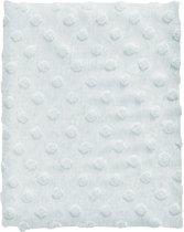 Cottonbaby Wiegdekentje - Dot melee lichtblauw - 75x90 cm