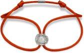 SUCCESSBEADS - successful - satijn armband rood - helder 925 sterling zilver