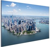 FotoCadeau.nl - Luchtfoto New York Aluminium 60x40 cm - Foto print op Aluminium (metaal wanddecoratie)