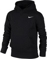 Nike YA76 Brushed Fleece Hoody Junior Sporttrui casual - Maat S  - Unisex - zwart Maat S - 128/140