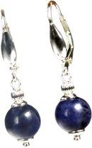 Bela Donaco Oorbellen Blue Jeans – Sodaliet – Sterling Zilver
