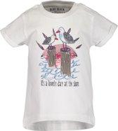 Blue Seven Meisjes T-shirt - wit - Maat 86