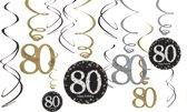 12 Swirls Sparkling Celebration age 80