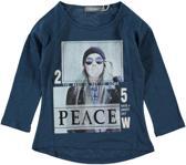 Geishsa Meisjes shirt meisje blauw - Maat 128