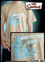 SIMPSONS - T-Shirt beige homme Housekeeping Sucks (S)