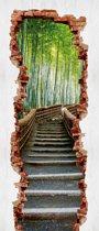 Hole in the Door  - Fotobehang 91 x 211 cm