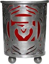 Wortel Chakra Votive theelicht houder Rood Glas
