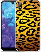 Huawei y5 2019 Hoesje Luipaard Goud Zwart