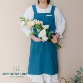 Sophie Nordinn® - Schort Visby (Blauw) - Scandinavisch Keukenschort vrouwen - Nordic Apron - Schorten dames - Keukentextiel - Kookschort