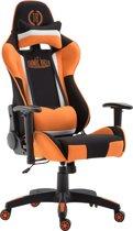 Clp Jerez - Bureaustoel - Stof - zwart/oranje zonder voetsteun