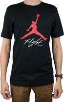 Nike Air Jumpman Flight Tee AO0664-010, Mannen, Zwart, T-shirt maat: M EU