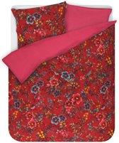 Pip Studio dekbedovertrek Floral Delight red - 1-persoons (140x200/220 cm incl. 1 sloop)