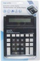 Rekenmachine   Calculator   Bureaurekenmachine   Grote Display   Grote Toetsen  Jumbo / 15 x 20 CM / 8 Digits    Zwart
