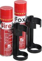 Schuimblusser, brandblusser, Firestop, spray A,B en F Set. (2x blusser en 2x houder): voor alle beginnende  branden