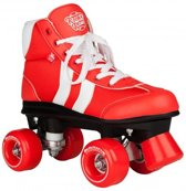 Rookie Retro V2 Rolschaatsen - Kinderen - Rollerskates - Rood/Wit - Maat 37