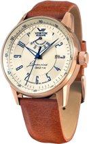 Vostok Europe YN85-560B519 horloge heren - bruin - edelstaal