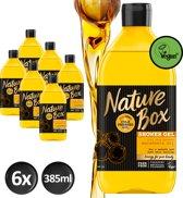 Nature Box Macadamia Douchegel Vegan 385ml - 6 stuks - Voordeelverpakking
