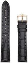 Hirsh Horlogeband -  Duke Zwart - Leer - 16mm