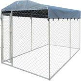 Hondenkennel voor buiten met dak 200 x 400 x 235 cm zeer stevig