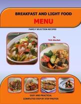 Breakfast and Light Food Menu