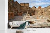 Fotobehang vinyl - De binnenstad van Pompeï in Italië breedte 450 cm x hoogte 300 cm - Foto print op behang (in 7 formaten beschikbaar)