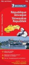 Michelin wegenkaart 756 Slowaakse Republiek