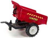 Falk Traptractor trailer dumper rood